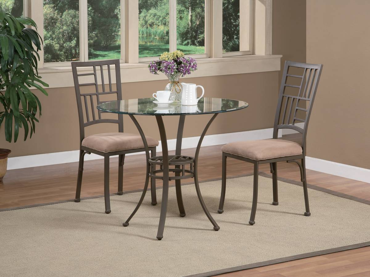Powell Trent Light Textured Bronze Bistro Dining Set
