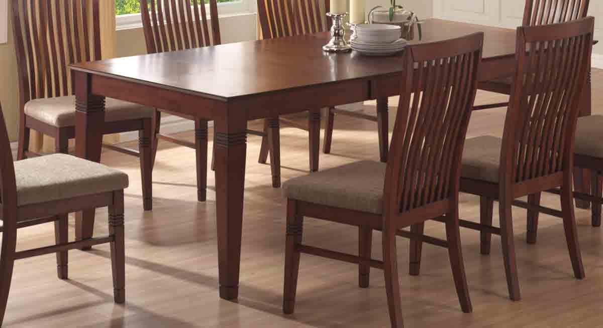 Cheap Powell Fairfax Dark Cherry Dining Table