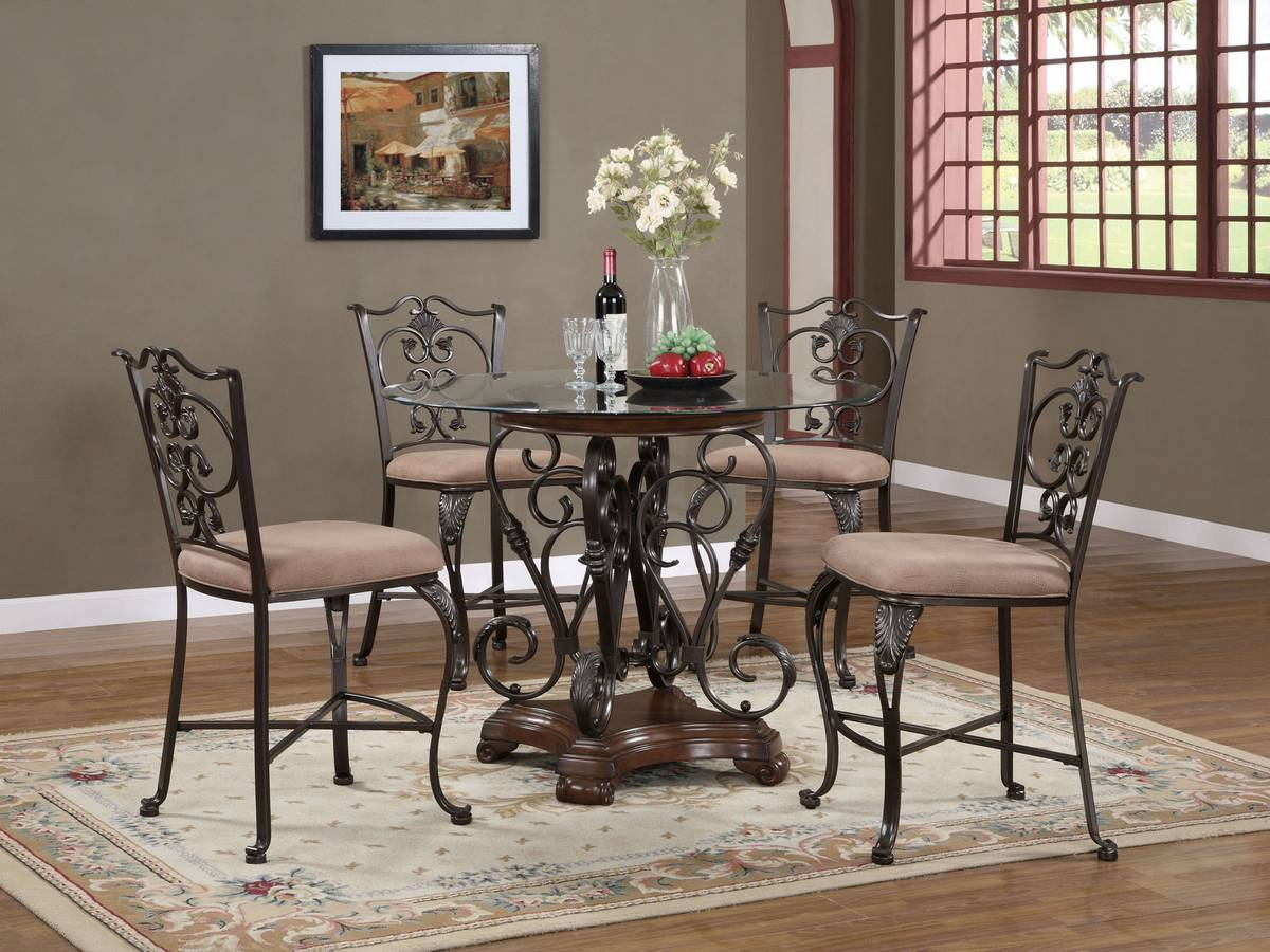 Powell Strasbourg Counter Height Dining Set