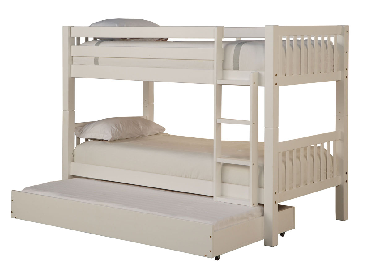 White Twin-Twin Bunk Bed - Powell