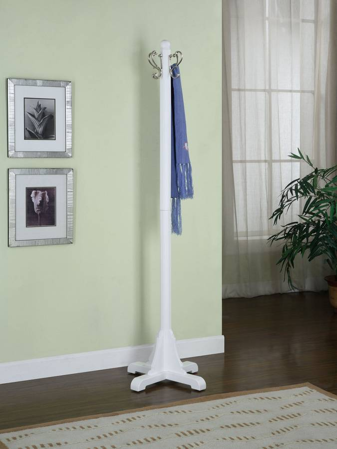 Cheap Powell Color Story Pure White Coat Rack