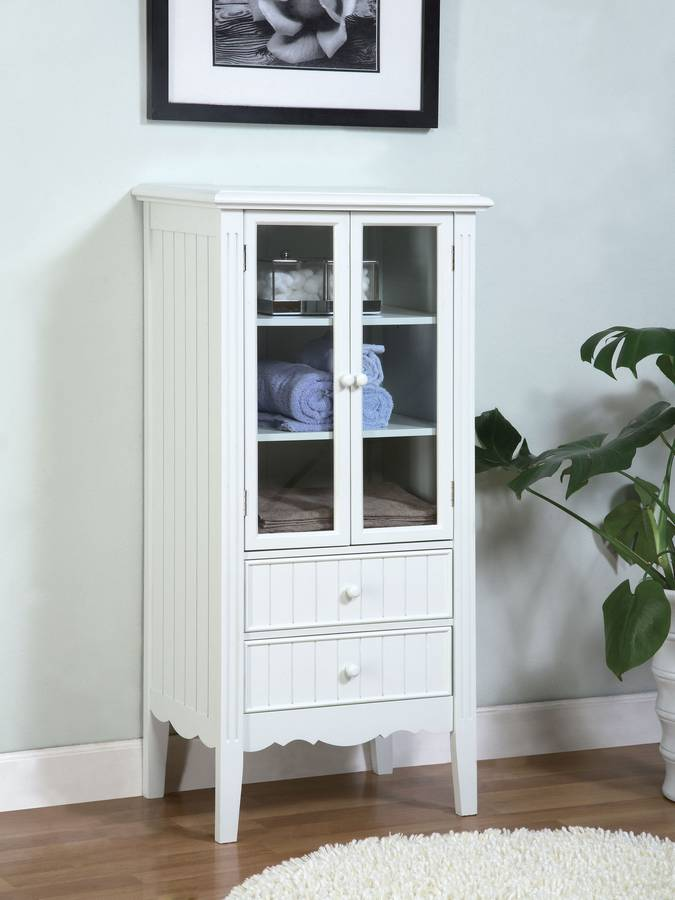 Photo of Powell Color Story Pure White Bath Curio (Accent Furniture, Curio and Display)