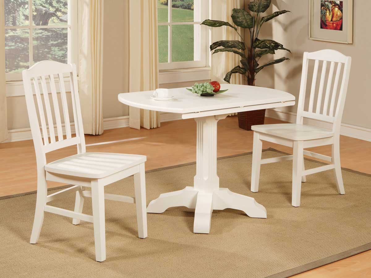 Powell Color Story Pure White Drop Leaf Bistro Table Pw