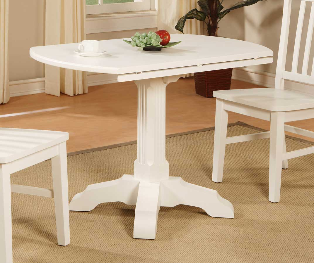 Cheap Powell Color Story Pure White Drop Leaf Bistro Table