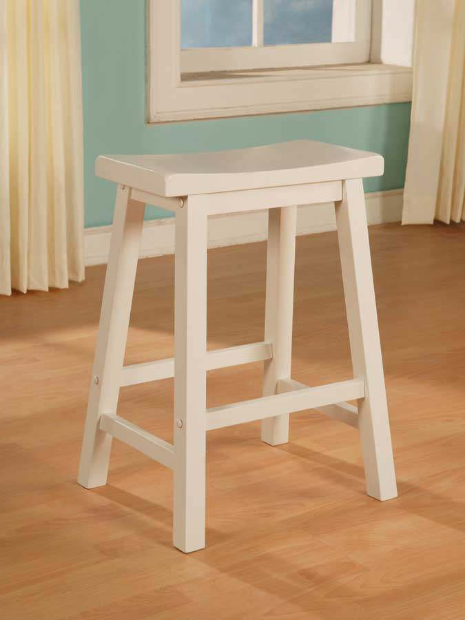 Powell Color Story Pure White Counter Stool