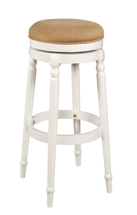 Powell White Backless Swivel Bar Stool 270 432  : PW 270 432 from www.homelement.com size 550 x 860 jpeg 80kB