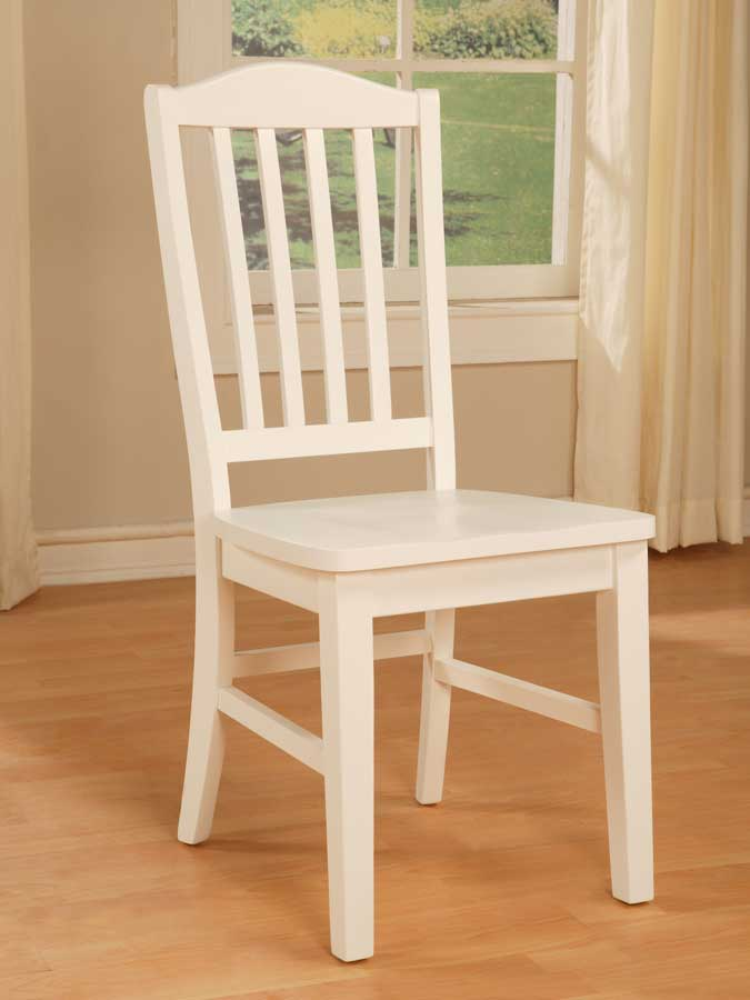 Cheap Powell Color Story Pure White Side Chair