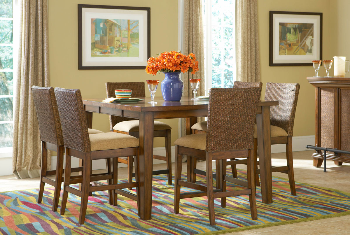 Powell Newport Counter Height Gathering Dining Set