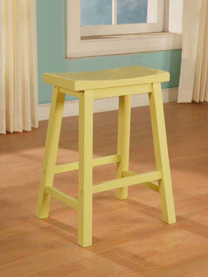 Cheap Powell Color Story Butter Yellow Counter Stool