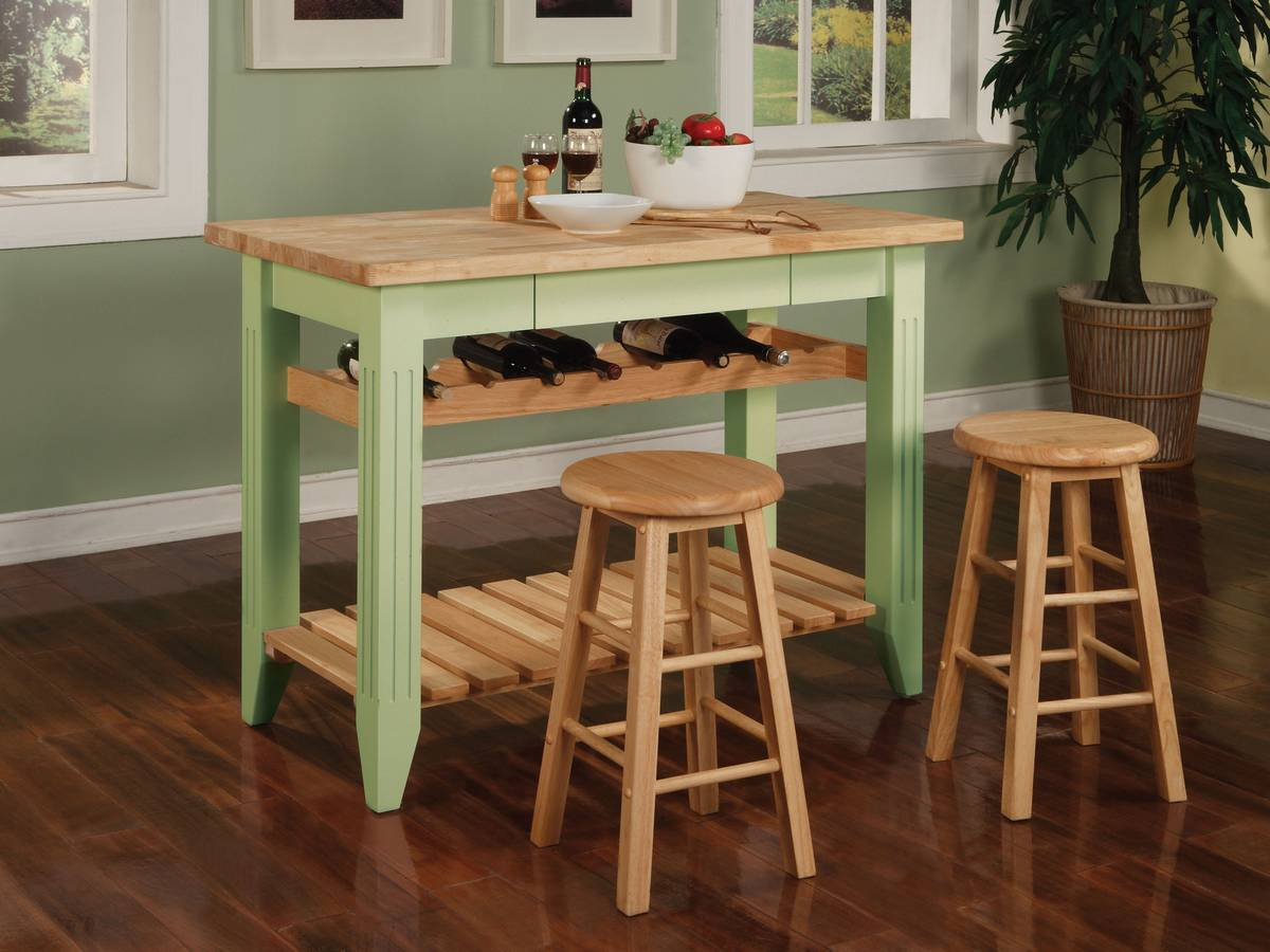 Powell Color Story Sage Green Gathering Dining Set