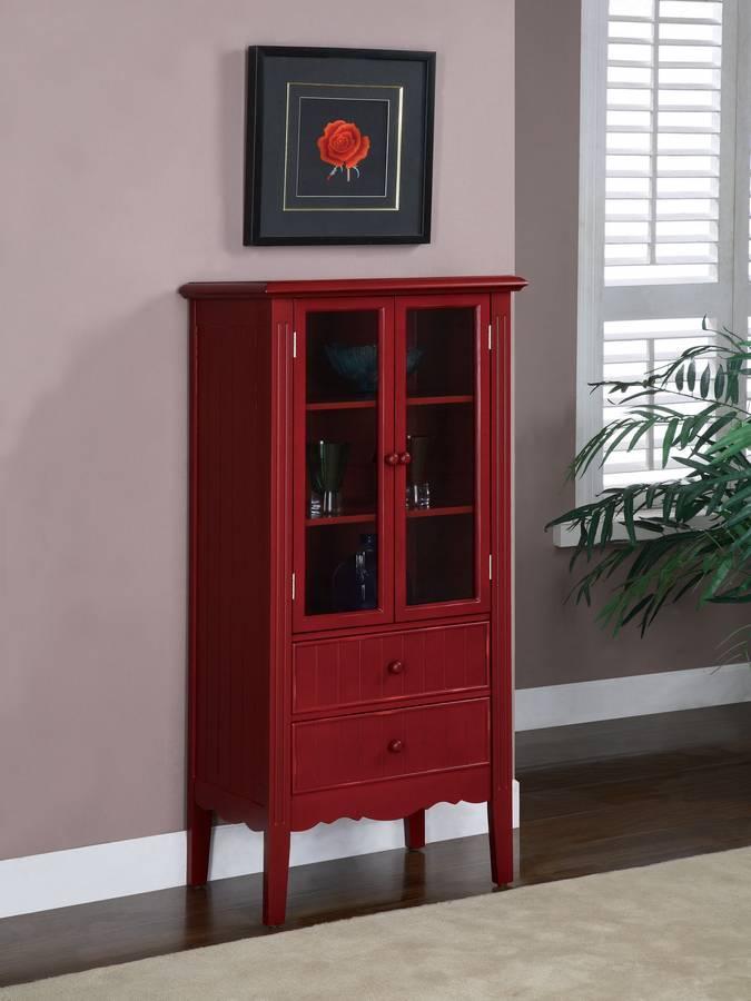 Cheap Powell Color Story Crimson Red Bath Curio