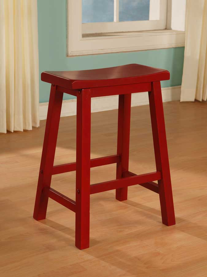 Cheap Powell Color Story Crimson Red Counter Stool
