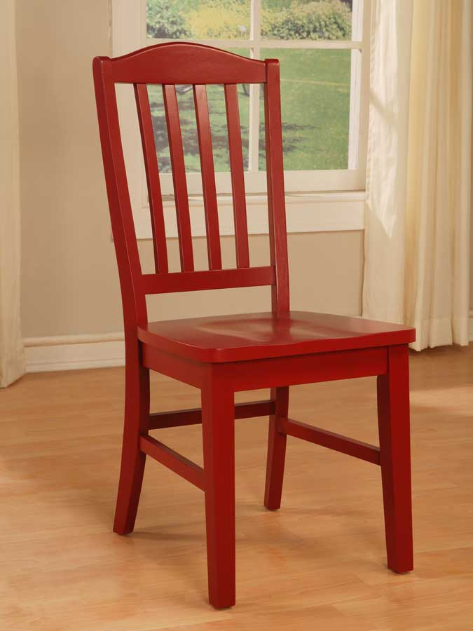 Cheap Powell Color Story Crimson Red Side Chair