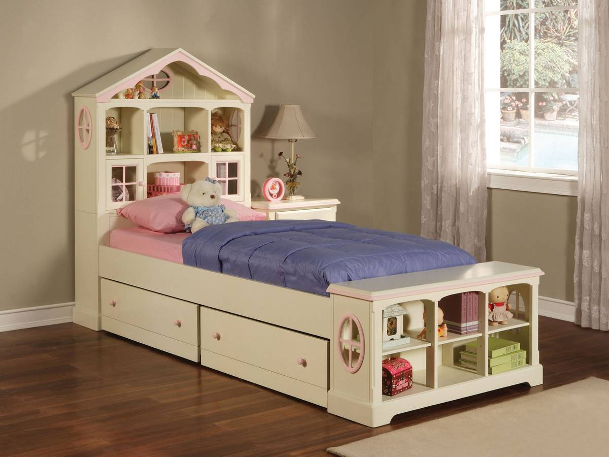 Powell Doll House Twin Size Storage Bed & Powell Doll House Twin Size Storage Bed PW-292-039-040-041 at ...
