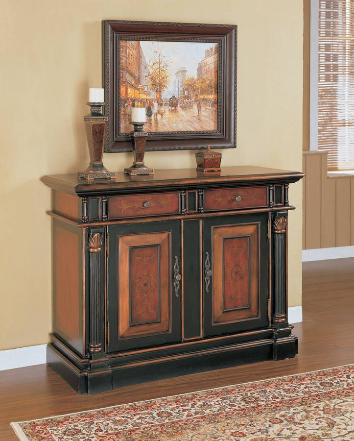 Cheap Powell Masterpiece 2-Door 2-Drawer Console Cabinet