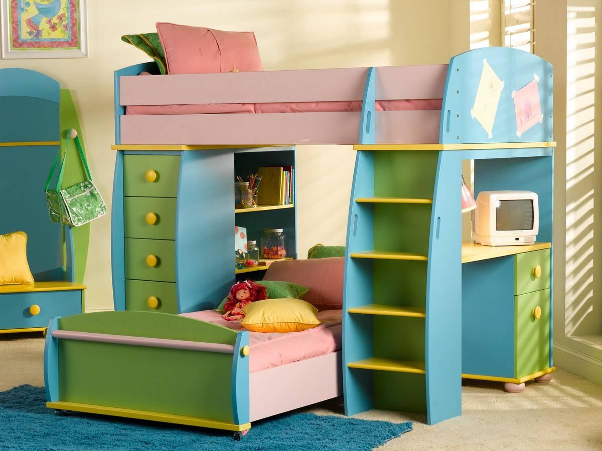 Powell Sunday Funnies Loft Bunk Bed