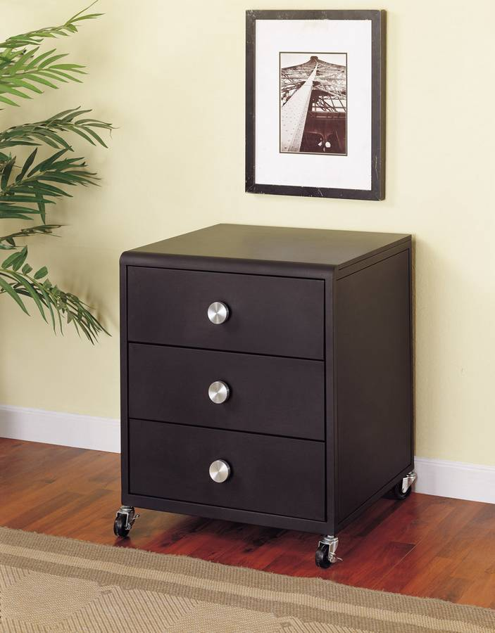 Cheap Powell Z-Bedroom Mobile 3-Drawer Chest