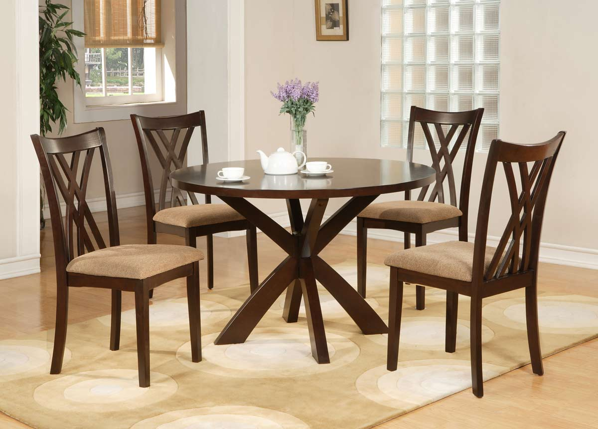Powell Stafford Espresso Round Dining Set