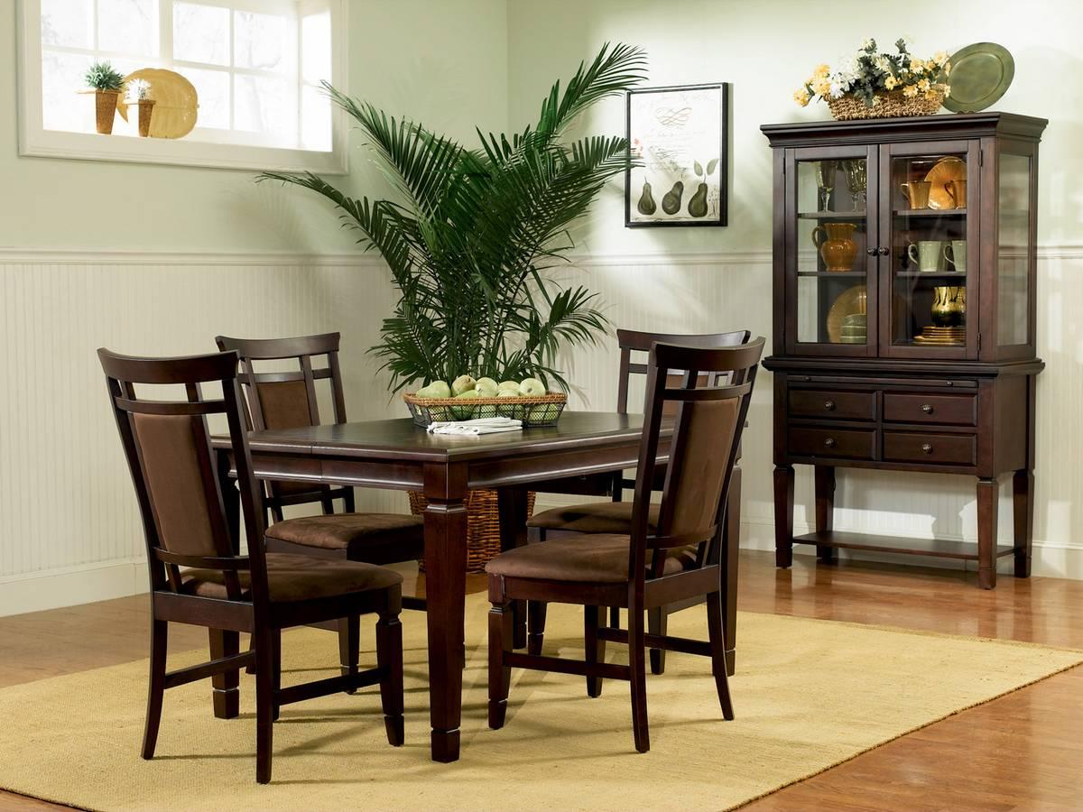 Powell Allspice Espresso Dining Set