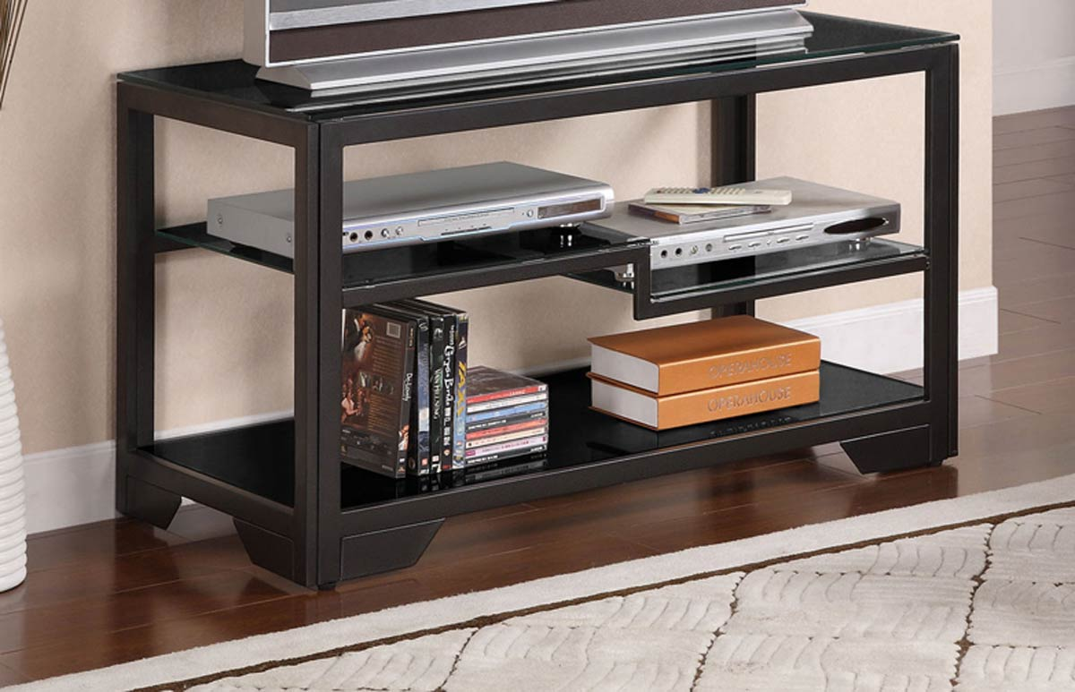 powell black rectangular 38 inch tv stand pw 359 781 at. Black Bedroom Furniture Sets. Home Design Ideas