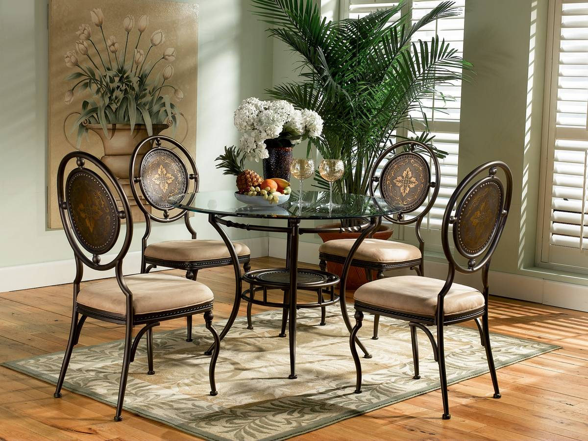 Powell Basil Antique Brown Dining Set