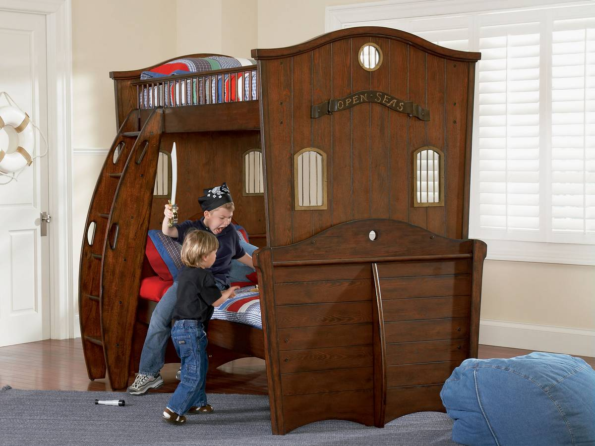 Powell Shiver Me Timbers Twin Size Bunk Bed Pw 365 037 At