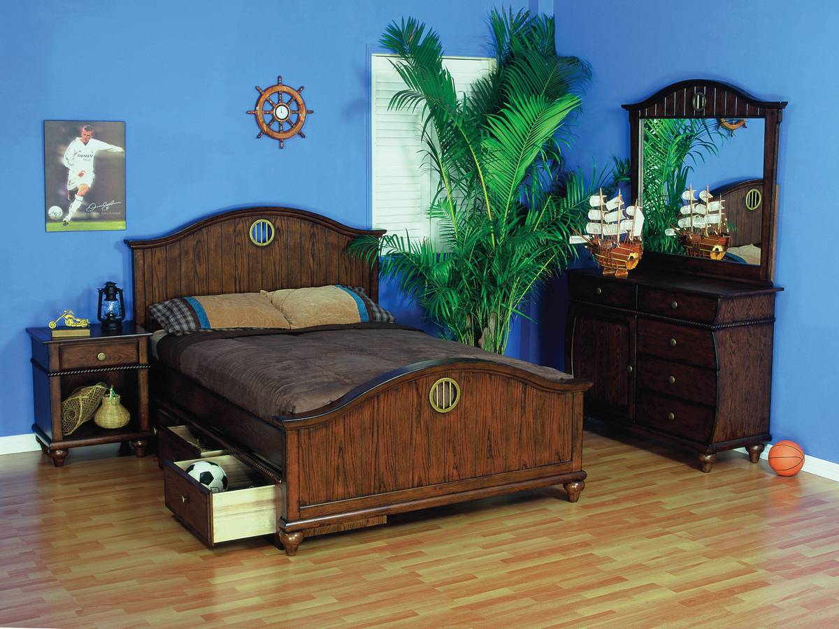 Cheap Powell Shiver Me Timbers Bedroom Set