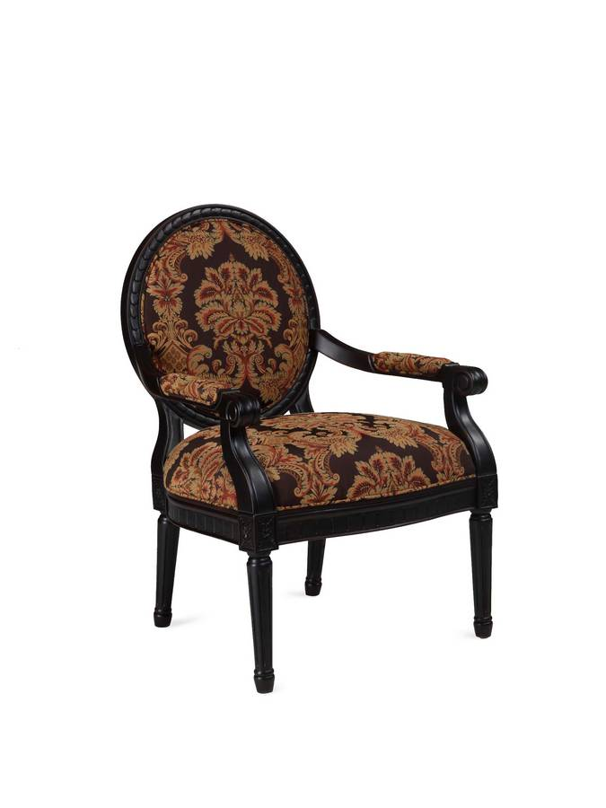 Powell Pomona Umber Black Rub-Through Accent Chair