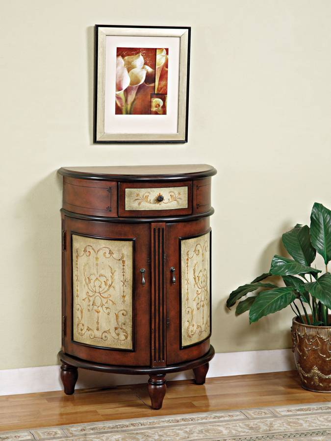 Cheap Powell Masterpiece Half-Round 2-Door 1-Drawer Accent Chest