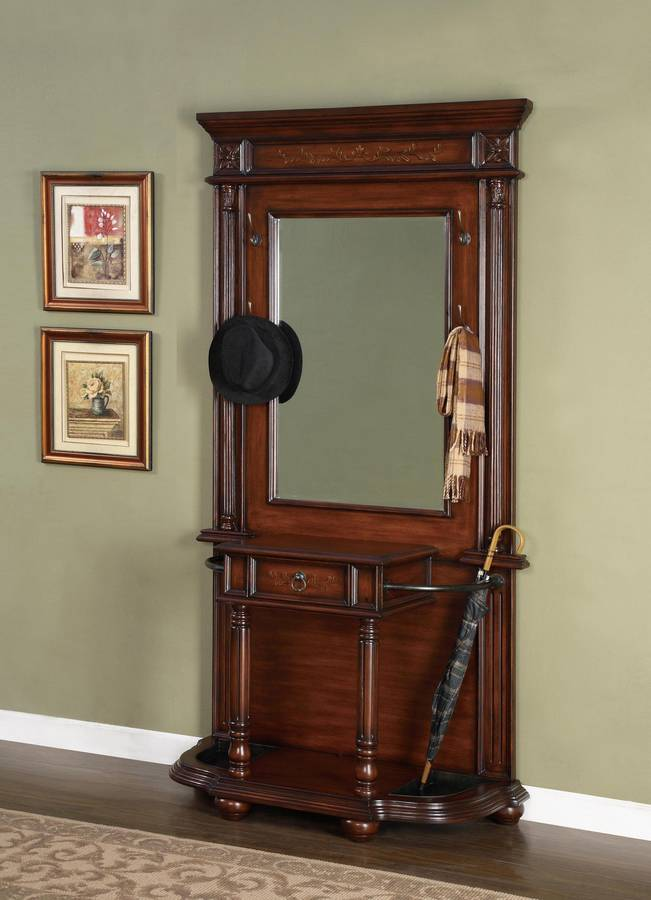 Powell Masterpiece Faux Medium Mahogany And Floral Hall
