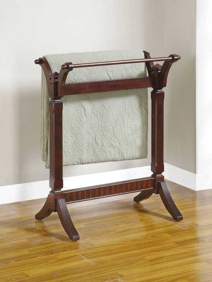 Cheap Powell Contemporary Merlot Blanket Rack