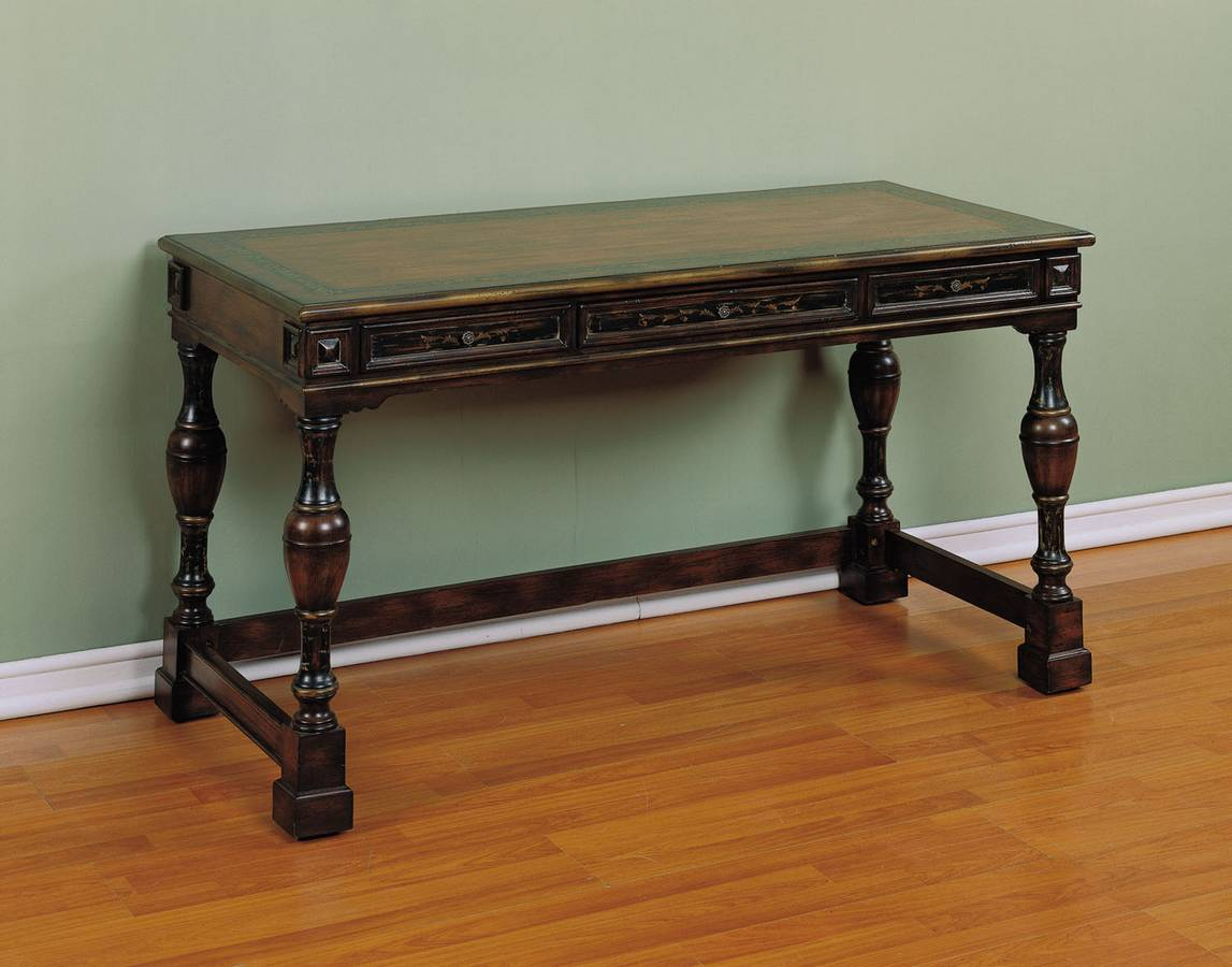 Powell Masterpiece Hunt Desk Distressed Faux Mahogany