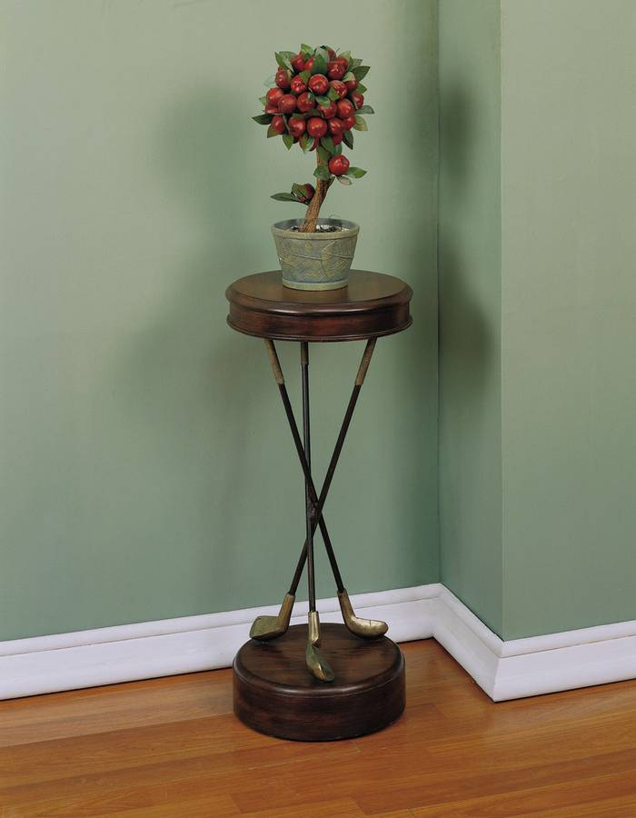 Cheap Powell Masterpiece Warm Pecan Golf Accent Table