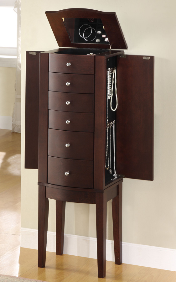 Powell Merlot Jewelry Armoire