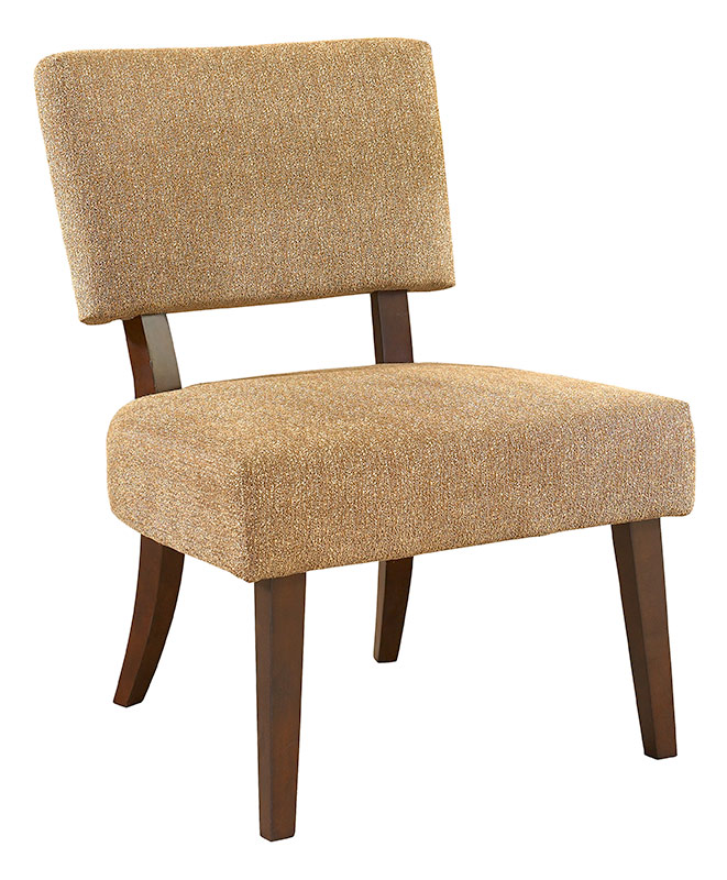 Powell 3 Piece Set - 2 Tan Accent Chairs And 1 Merlot Square End Table