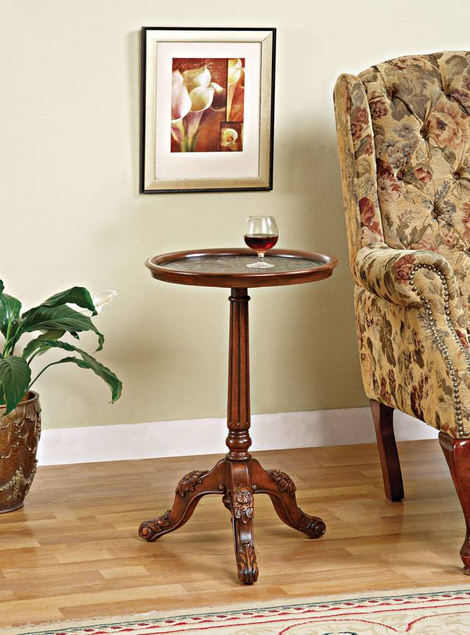 Cheap Powell Masterpiece Medium Mahogany Accent Table