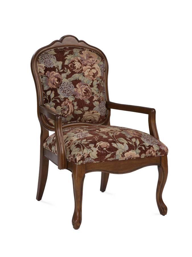 Powell Verona French Walnut Accent Chair