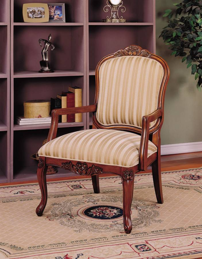 Cheap Powell Belvedere French Walnut Lounge Chair