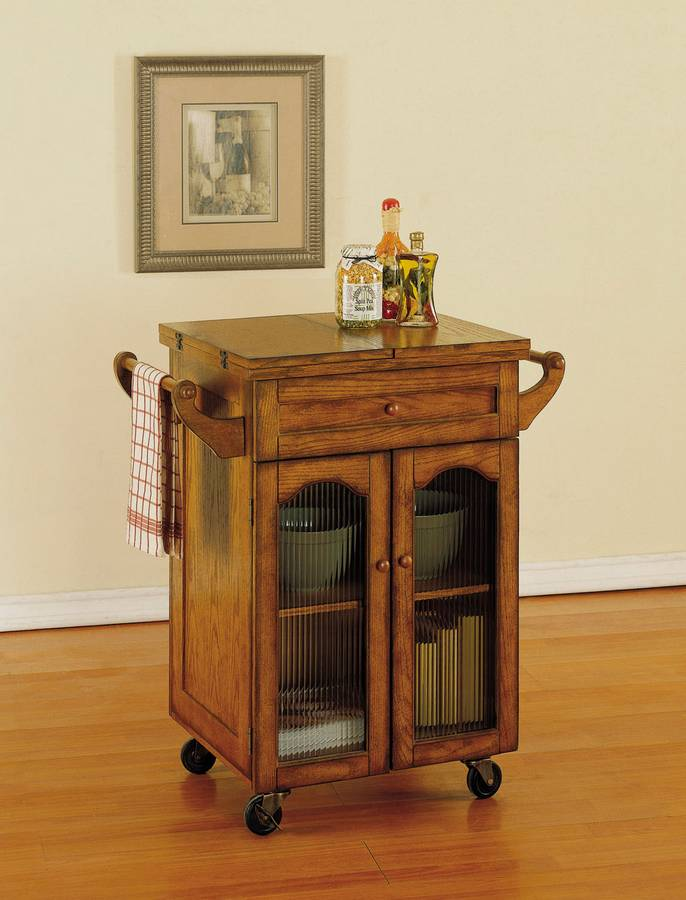 Noble Oak Kitchen Cart - Powell
