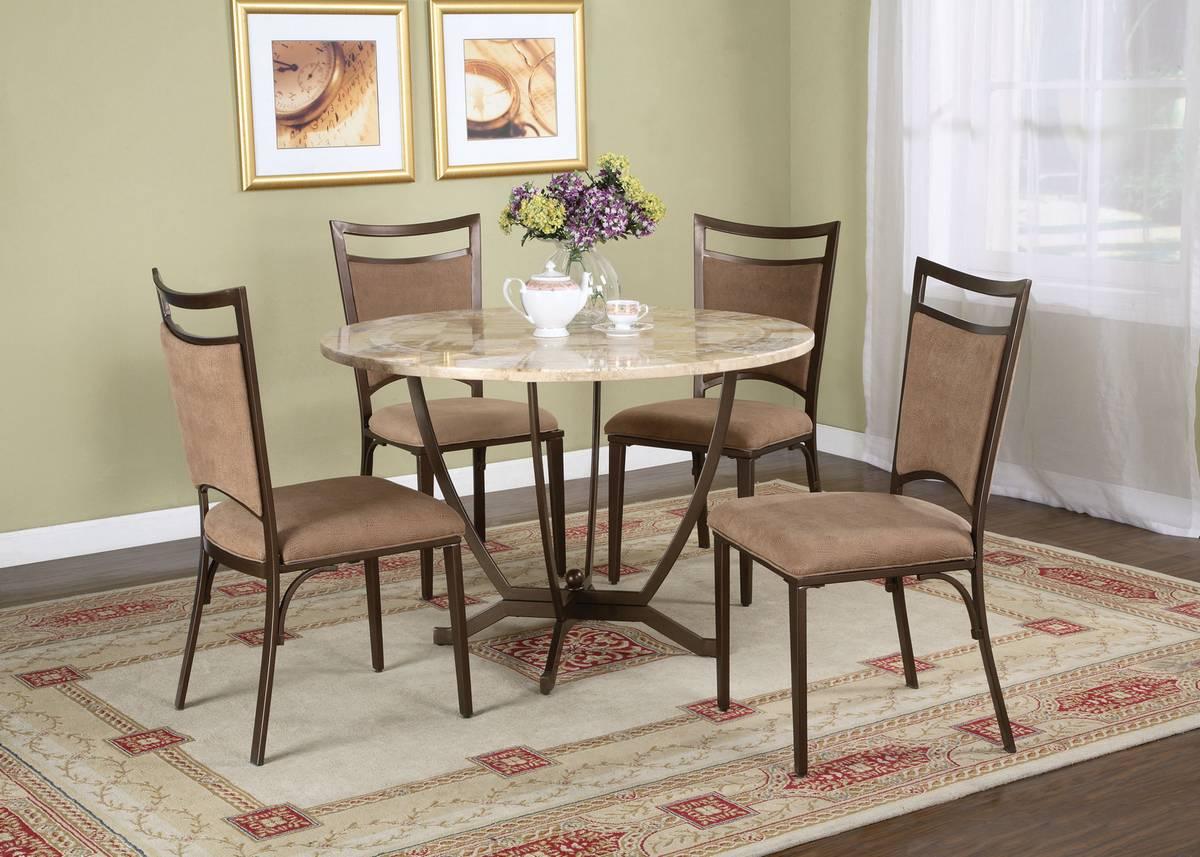 Powell Malibu Satin Medium Bronze Dining Set
