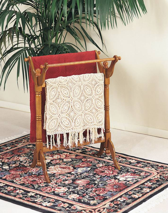 Cheap Powell Nostalgic Oak Blanket Rack