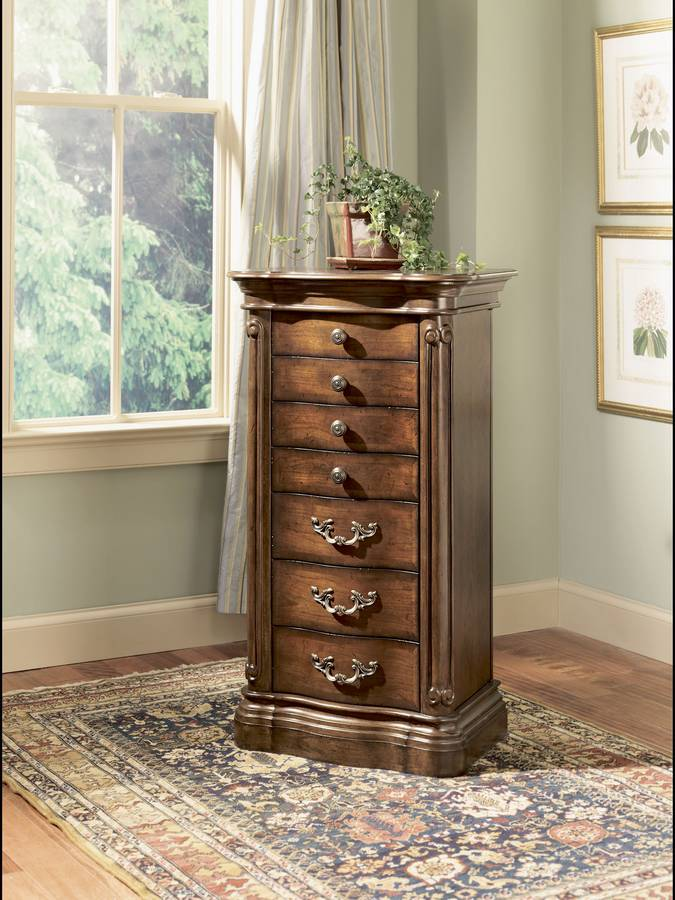 Cheap Powell Mayfair Cherry Jewelry Armoire