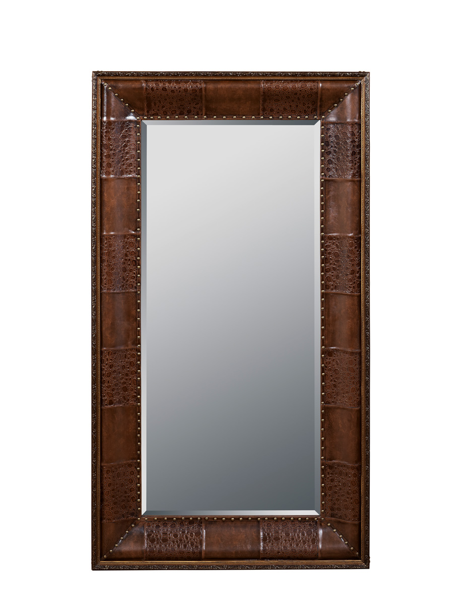 Powell Expedition Leaning Floor Mirror - Chestnut