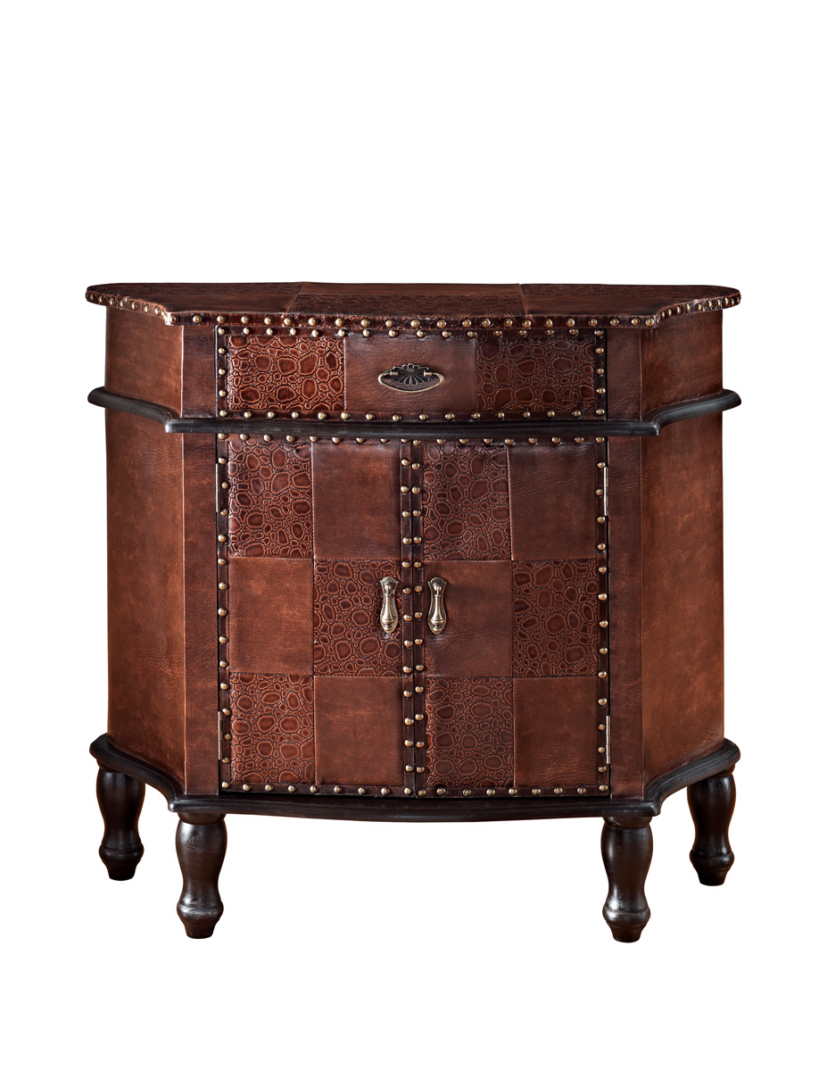 Powell Expedition 1-Drawer, 2-Door Hall Chest - Chestnut
