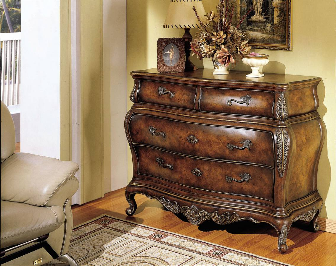 Powell masterpiece faux plantation cherry drawer hall