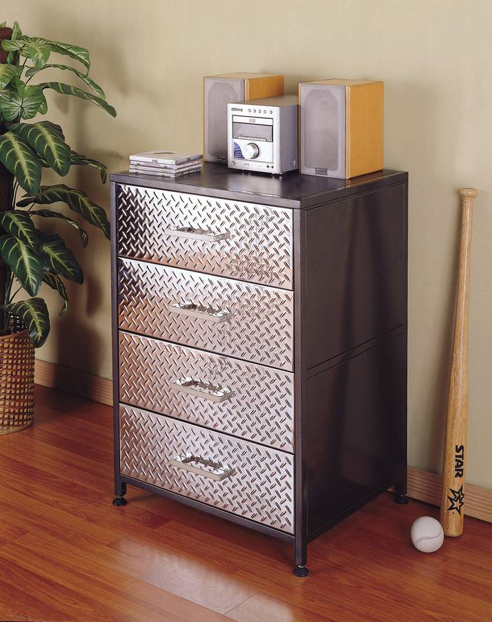 powell monster bedroom 4 drawer chest 500 008
