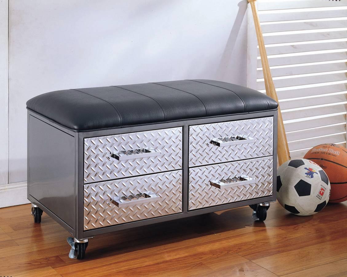 Cheap Powell Monster Bedroom 4-Drawer Mobile Bench