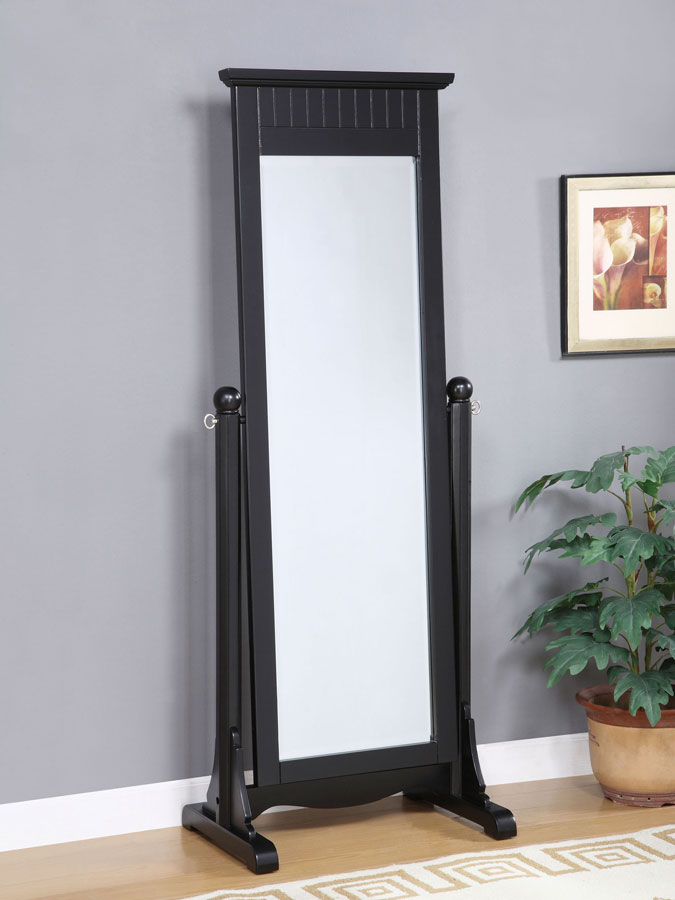 Cheap Powell Color Story Antique Black Cheval Mirror