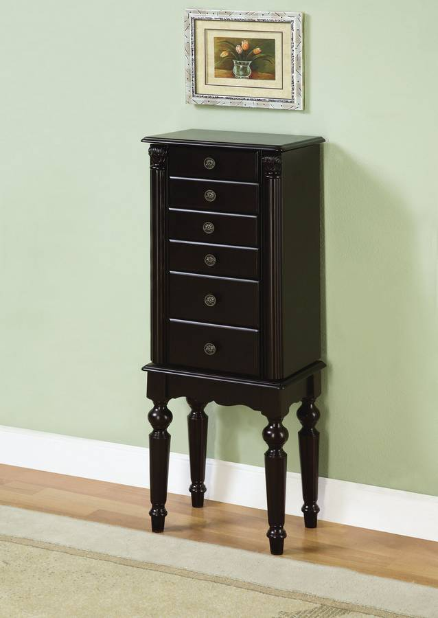 Powell Ebony Jewelry Armoire