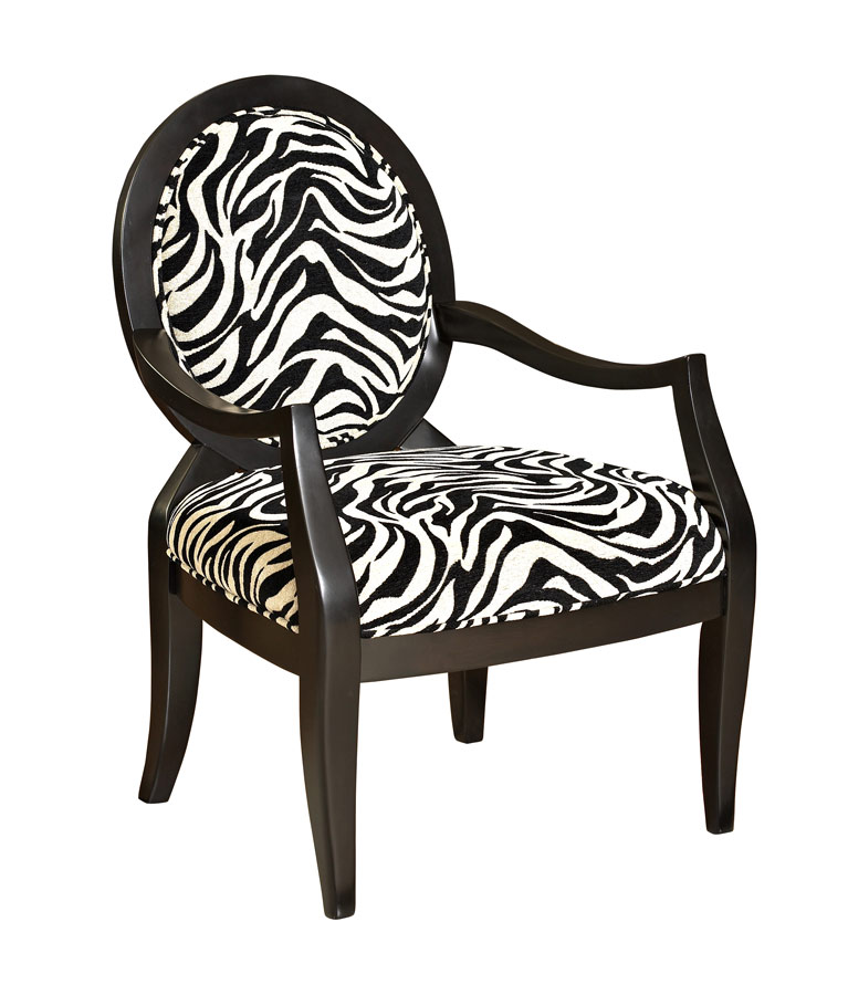Powell Zebra Oval Back Accent Chair